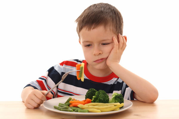 کودکان و خوردن سبزیجات