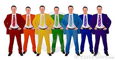 تاثیر لباسهای رنگی بر روان
