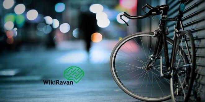 مردی با دوچرخه