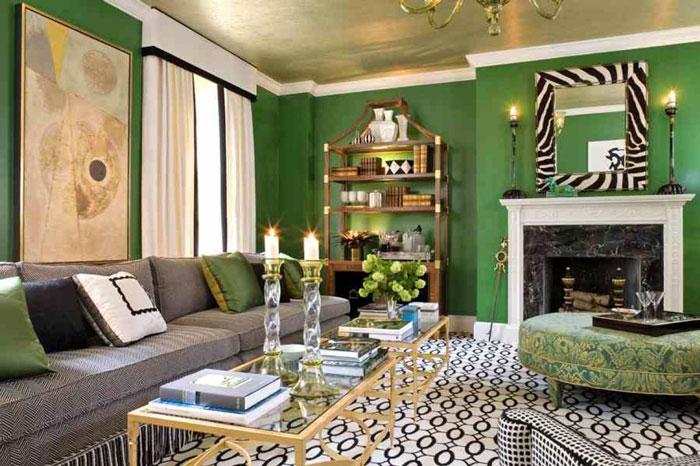 سبز در طراحی داخلی