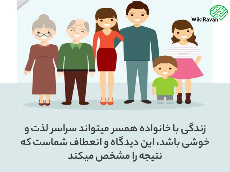 شرایط زندگی با خانواده همسر